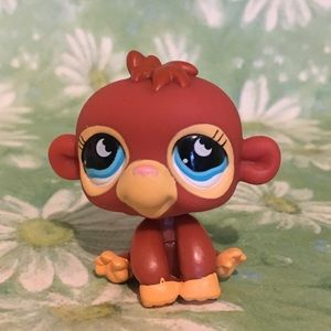 LPS red sitting monkey